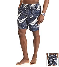 Nautica® Men's Big & Tall Sail Boat Swim Trunk