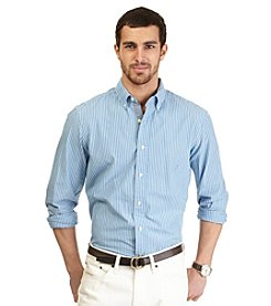 Nautica® Men's Big & Tall Long Sleeve Stripe Poplin