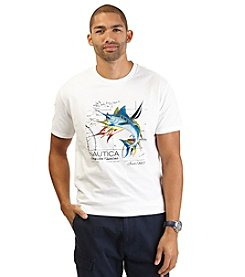 Nautica® Men's Big & Tall Short Sleeve Marlin Crewneck