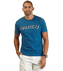 Nautica® Men's Big & Tall Short Sleeve Nautica Crewneck