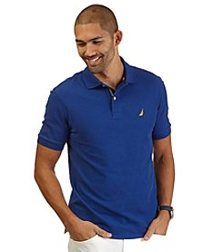 Nautica® Men's Big & Tall Short Sleeve Solid Deck Polo