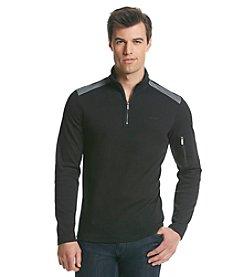 Calvin Klein Men's Long Sleeve 1/4 Zip Blocked Knit
