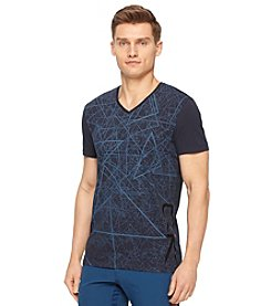 Calvin Klein Men's Short Sleeve Triangle V-Neck Tee