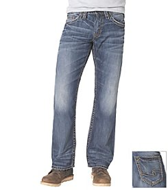 Silver Jeans Co. Men's Zac Medium Wash Straight Leg Jean