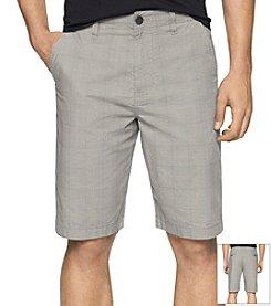 Calvin Klein Jeans Men's Poplin Plaid Flat Front Short