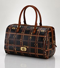 Lauren Ralph Lauren Gallaway Barrel Satchel