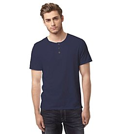 Buffalo by David Bitton Men's Short Sleeve Nifun Henley Tee