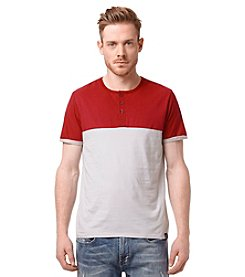 Buffalo by David Bitton Men's Short Sleeve Nifun Colorblock Henley Tee