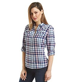 Relativity® Plaid Utility Shirt