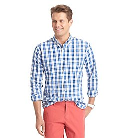 Izod® Men's Long Sleeve Medium Plaid Woven