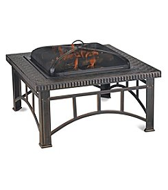 UniFlame® Brushed Cooper Wood Burning Outdoor Firebowl