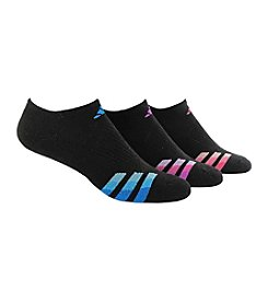 adidas® 3 Pack Cushioned No Show Socks