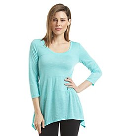Relativity® Slub Knit Sharkbite Tunic