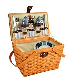 Picnic at Ascot Frisco Aegean Honey Picnic Basket for Two