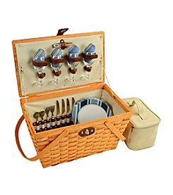 Picnic at Ascot Settler Aegean Honey Picnic Basket for Four