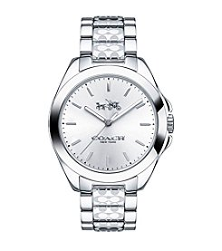 COACH TRISTEN STAINLESS STEEL WATCH WITH SIGNATURE ETCHING