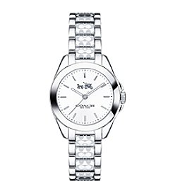 COACH TRISTEN SMALL STAINLESS STEEL WATCH WITH SIGNATURE ETCHING