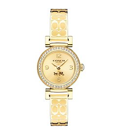 COACH MADISON FASHION GOLD ETCHED BANGLE WATCH