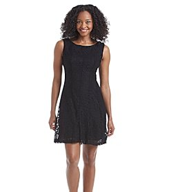 Connected® Petites' Lace Fit And Flare Dress