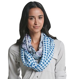 Cejon® Gingham And Budding Romance Loop Scarf