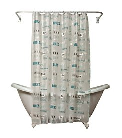 India Ink Bubble Bath PEVA Shower Curtain