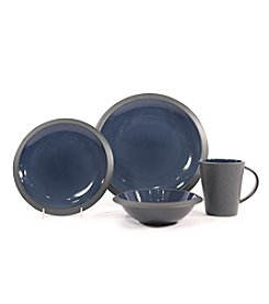 Baum Angled Blue 16-pc. Dinnerware Set