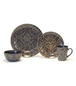 Baum Damask Grey 16-pc. Dinnerware Set