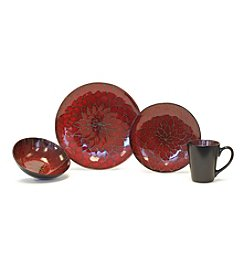 Baum Dahlia Red 16-pc. Dinnerware Set