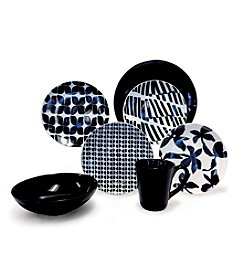 Baum Blue & White 16-pc. Dinnerware Set