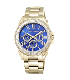 Vince Camuto™ Women's Goldtone Bracelet Watch with Blue Dial
