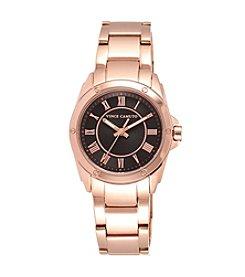 Vince Camuto™ Women's Polished Rose Goldtone Bracelet Watch with Black Dial