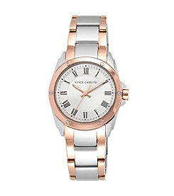 Vince Camuto™ Women's Polished Two-Tone Bracelet Watch with a Silvertone Dial