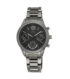 Vince Camuto™ Women's Gun Metal Bracelet Watch with Multi-Function Dial