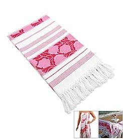 Linum Home Textiles Jacquard Pestemal Beach Towel