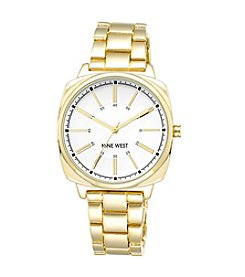 Nine West® Goldtone Watch with Slightly Oversized Case
