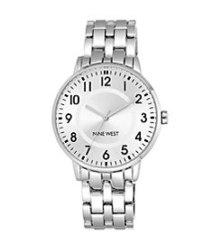 Nine West® Silvertone Case with Modern Dial Watch