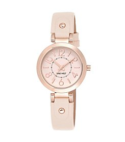 Nine West® Rose Goldtone Watch with Detailed Strap