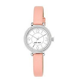 Nine West® Petite Blush Pink Strap Watch
