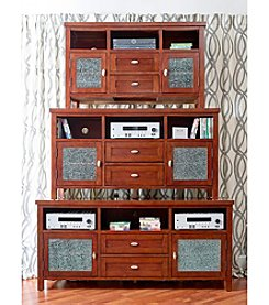 Jofran Crackle Glass Entertainment Console Collection