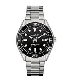 Nautica® Men's NAC 103 - Date Silvertone Bracelet Watch