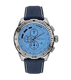 Nautica® Men's NST 101 Special Blue Crystal Over White Dial Watch