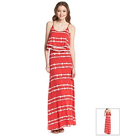 Sequin Hearts® Tie Dye Popover Maxi Dress