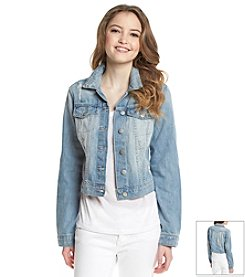 Jessica Simpson Destructed Denim Jacket
