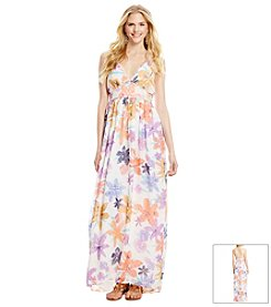 Jessica Simpson Lily Print Maxi Dress