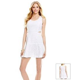 Jessica Simpson Eyelet Fit And Flare