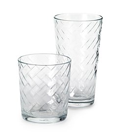 LivingQuarters Riatta 16-pc. Drinkware Set