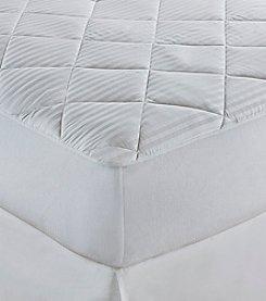 Elie Tahari Pima Stripe Mattress Pad