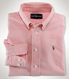 Ralph Lauren Boys' 2T-20 Long Sleeve Oxford Top