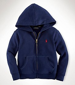 Ralph Lauren Childrenswear Boys' 2T-20 Full Zip Fleece Hoodie