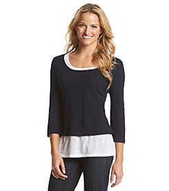 Jones New York Sport® Layered Knit Top